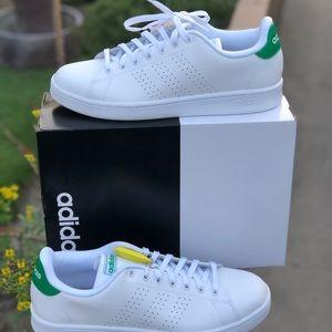 Adidas Mens Advantage, White and Green